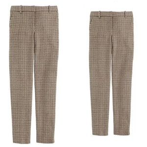 J. Crew Stovepipe Favorite Fit Trousers Wool Check